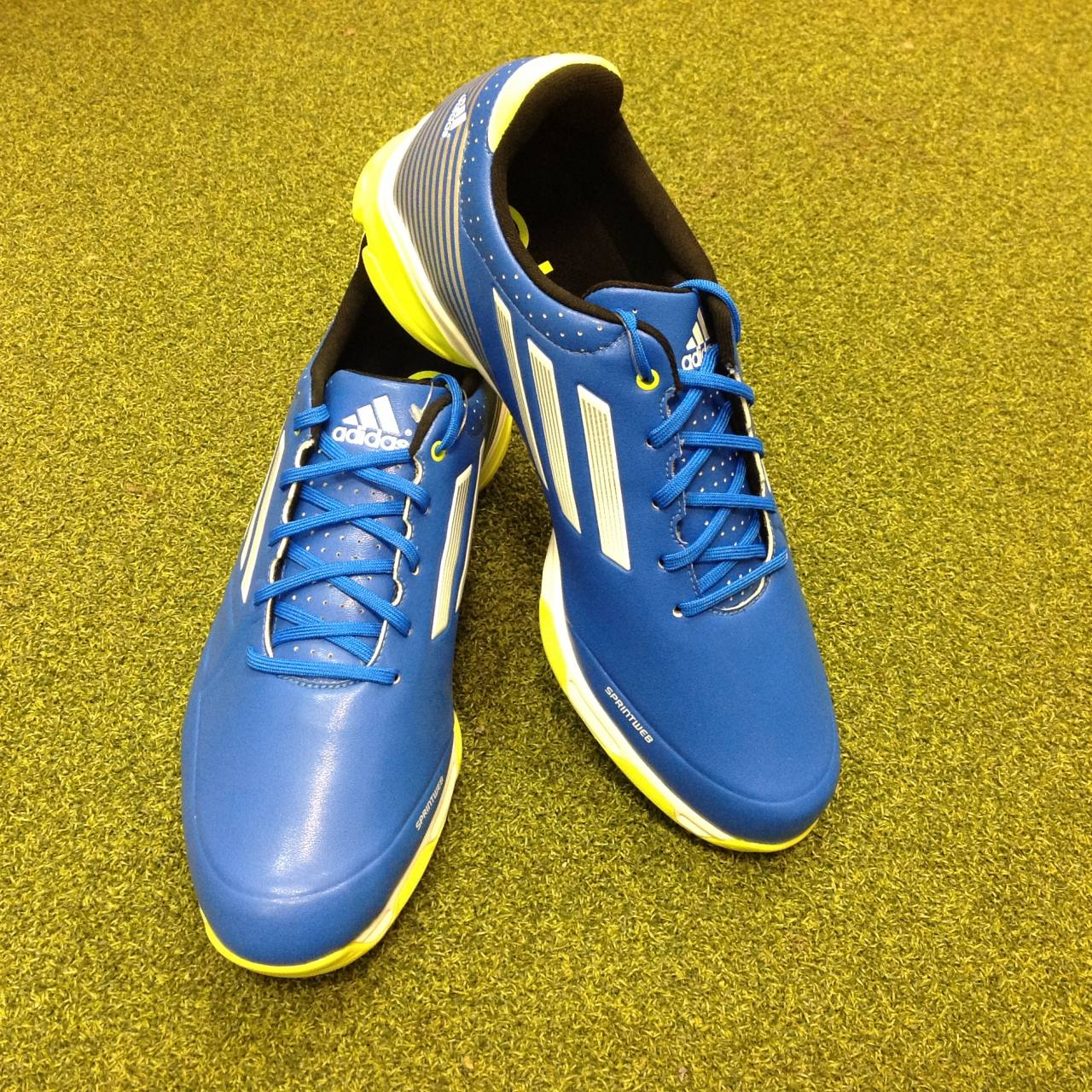 bab358074b26bd Details about NEW Adidas Adizero 6-Spike Golf Shoes - UK Size 8.5 - US 9 -  EU 42 2 3
