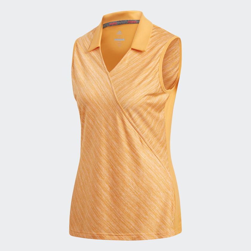 f817fd90559c4f Adidas Ladies Golf Fashion Polo Tank Top – Real Gold – Size Medium ...