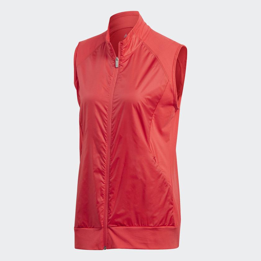 4d4af6c61c5c4 Adidas Ladies Golf Technical Wind Vest – Real Coral – Size Medium – Pro Golf  Products Ltd