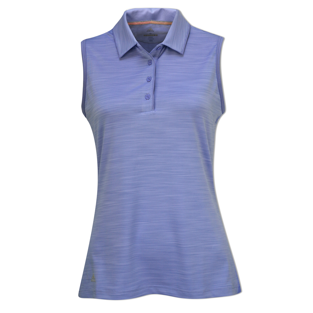 1c6bf8ef2456d Adidas Ladies Golf Ultimate 3-Stripe Sleeveless Polo – Chalk Purple – Size  M – Pro Golf Products Ltd